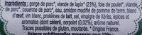 Terrine de Lapin au Serpolet - Ingredients