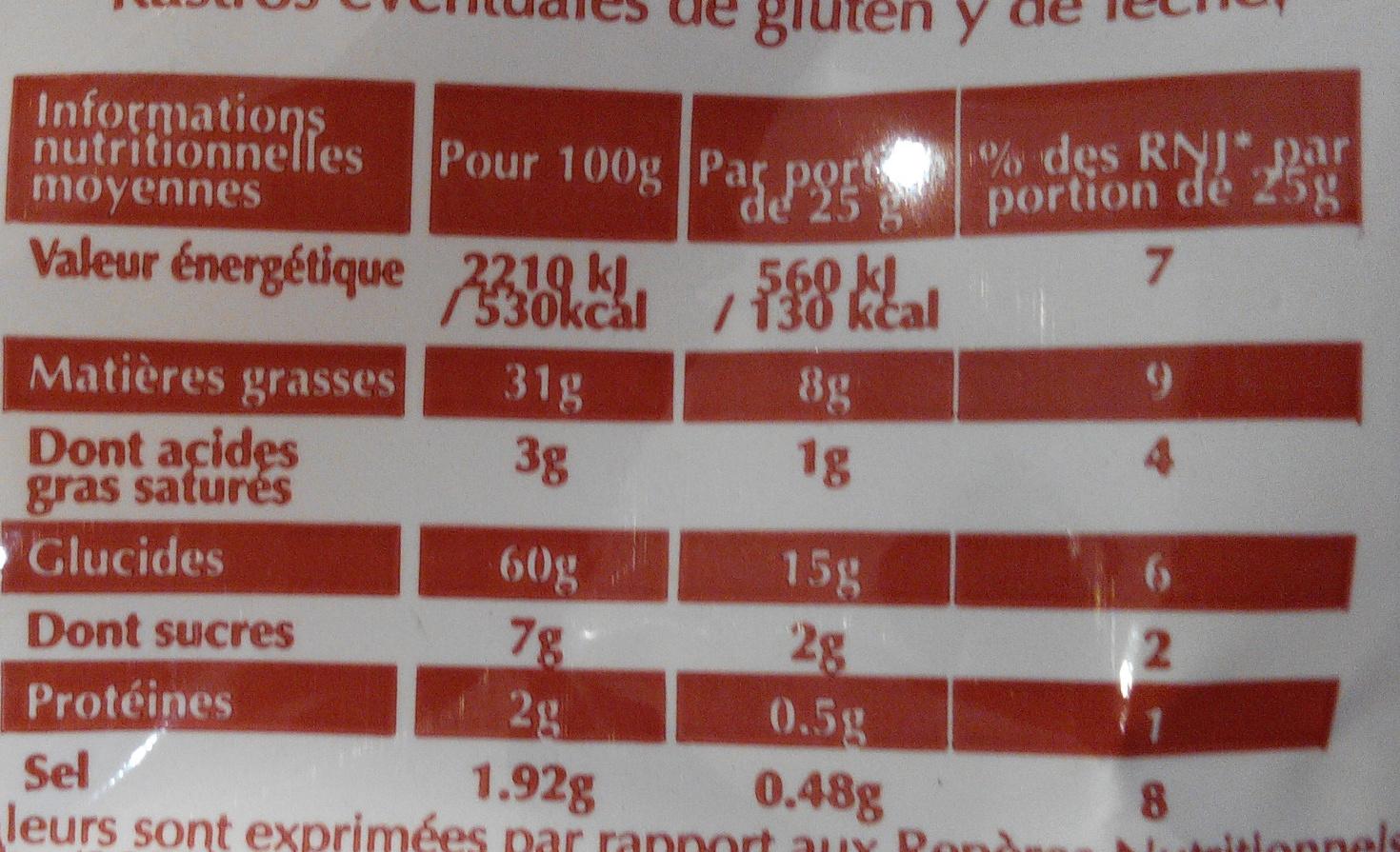 Chips à la Crevette - Informations nutritionnelles - fr