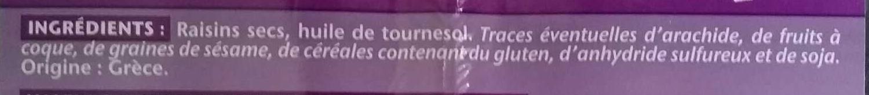 Raisins de Corinthe - Ingredienti - fr