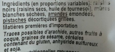 Formule Tonus - Ingredients - fr
