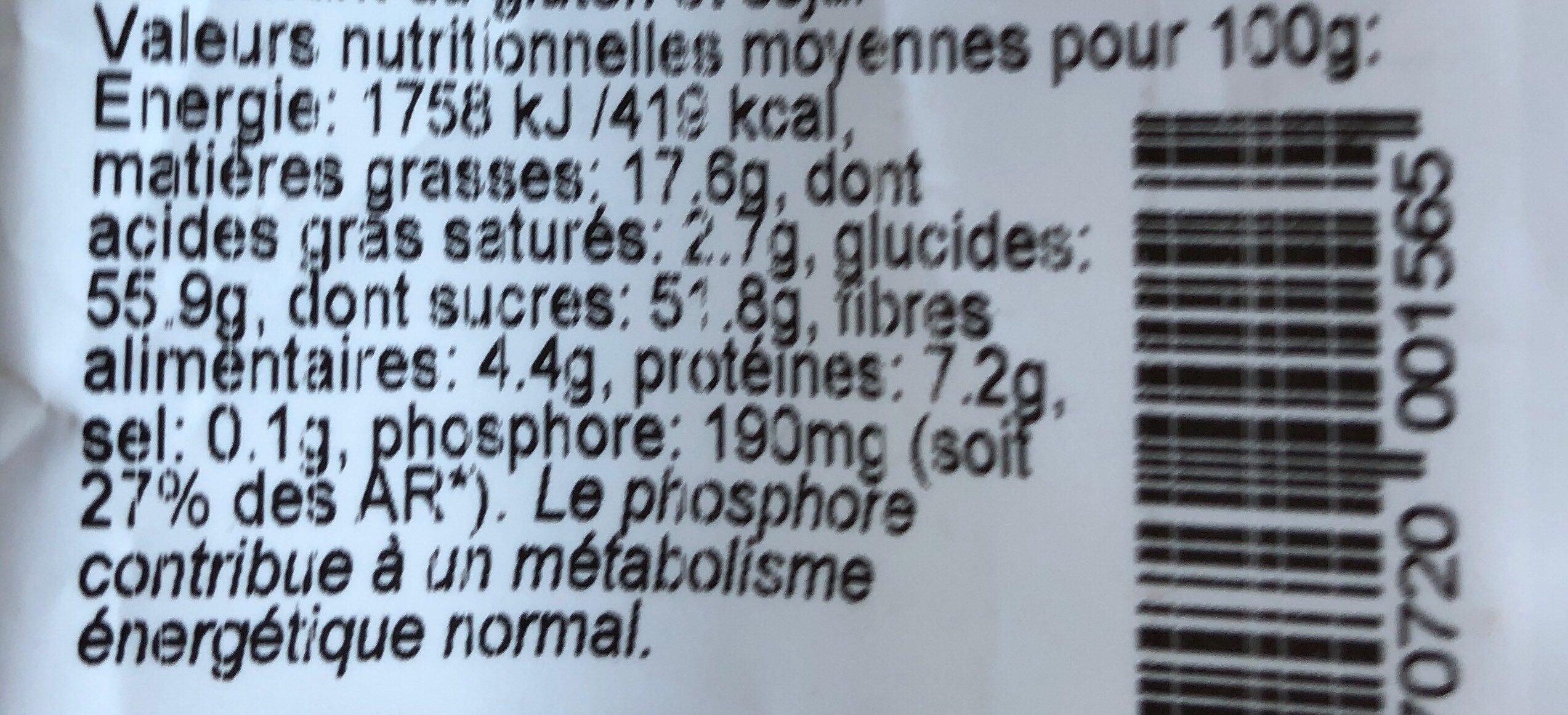 Formule active - Nutrition facts - fr