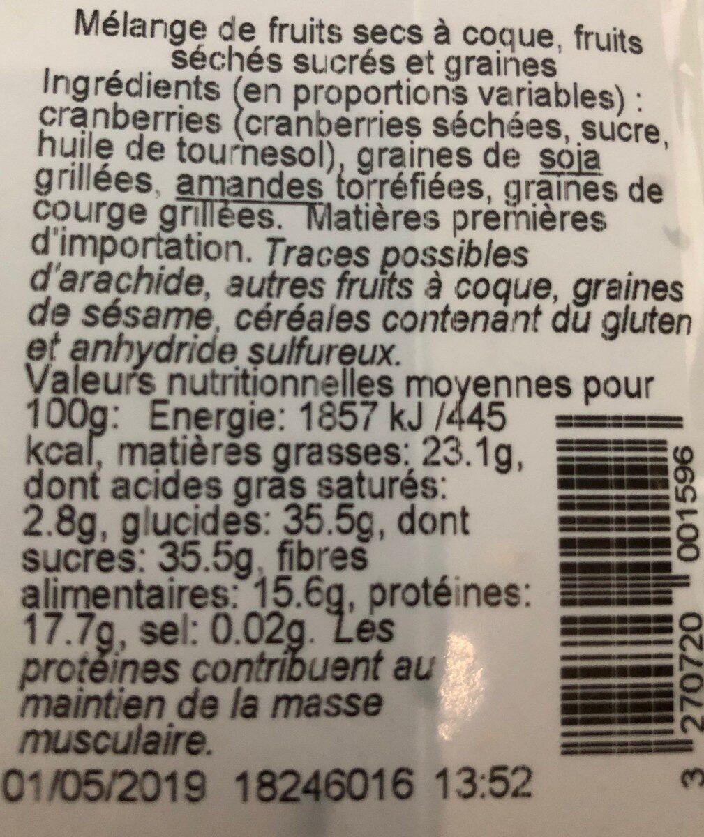 Formule boost - Nutrition facts - fr