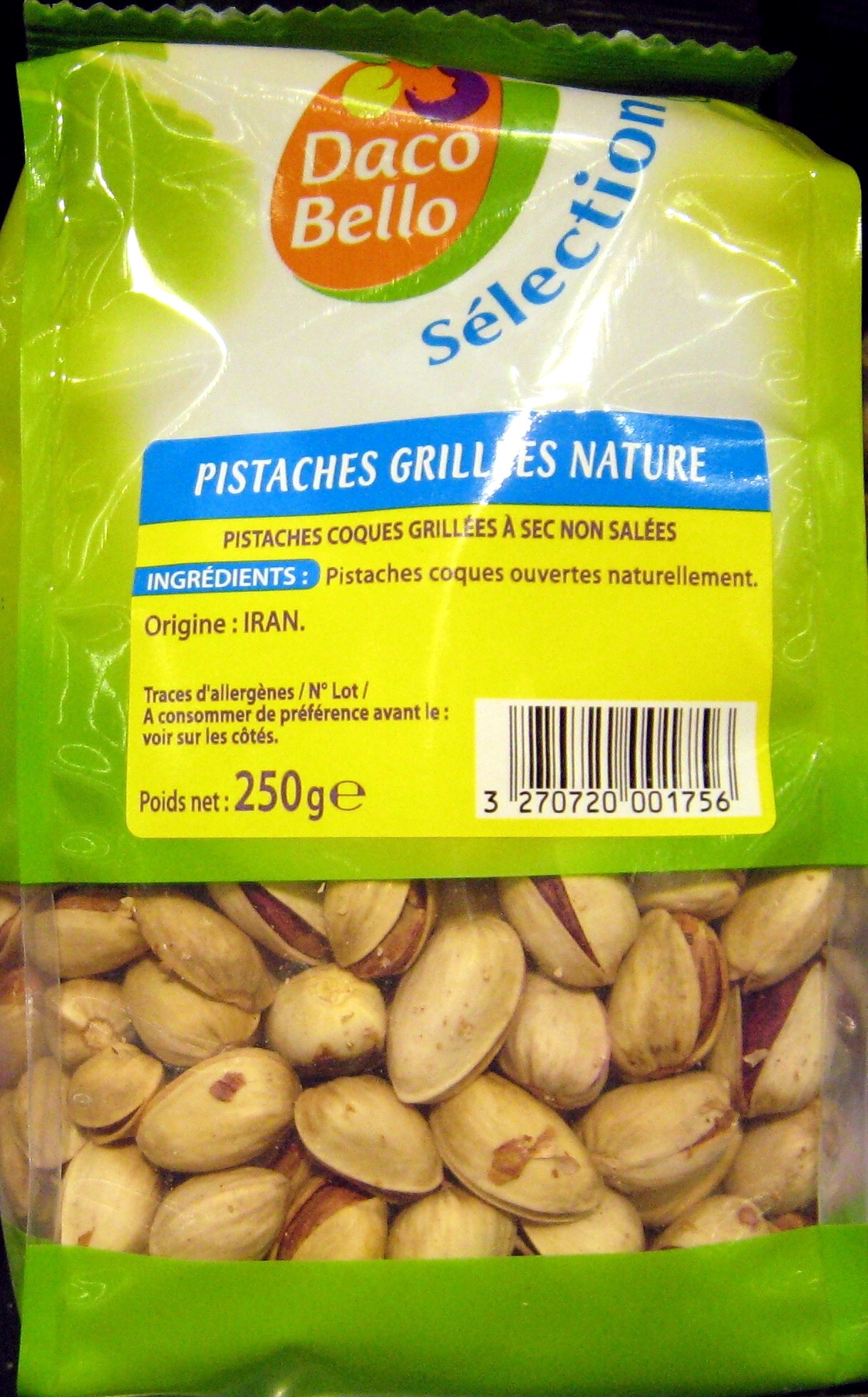 Pistaches grillées nature Daco Bello - Product - fr