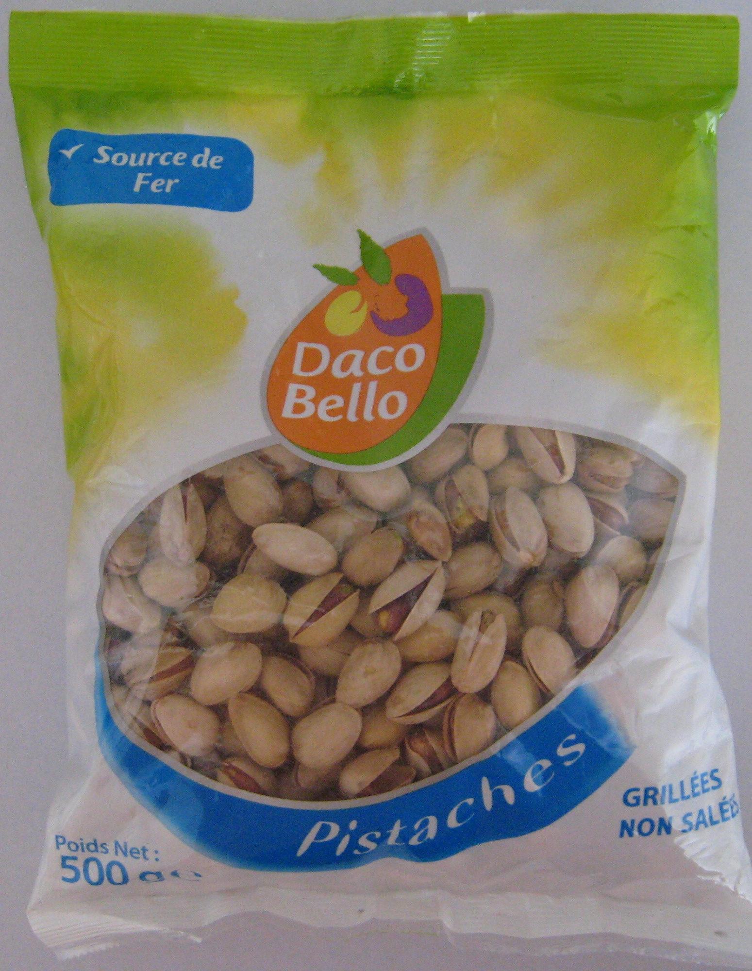 Pistaches Grillées non salées Daco Bello - Produit
