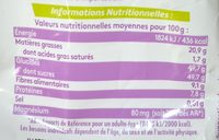 Mix rhubarbe - Nutrition facts - fr