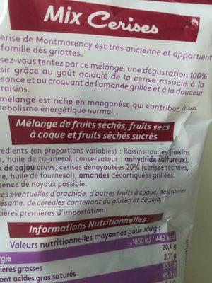 Mix cerises - Ingrediënten - fr