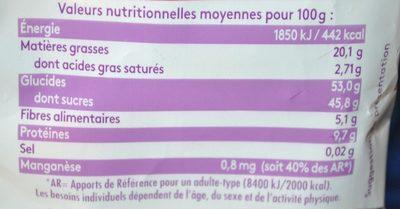 Mix cerises - Voedingswaarden - fr