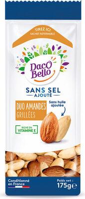 Duo amandes grillées sans sel ajoutés - Produit - fr