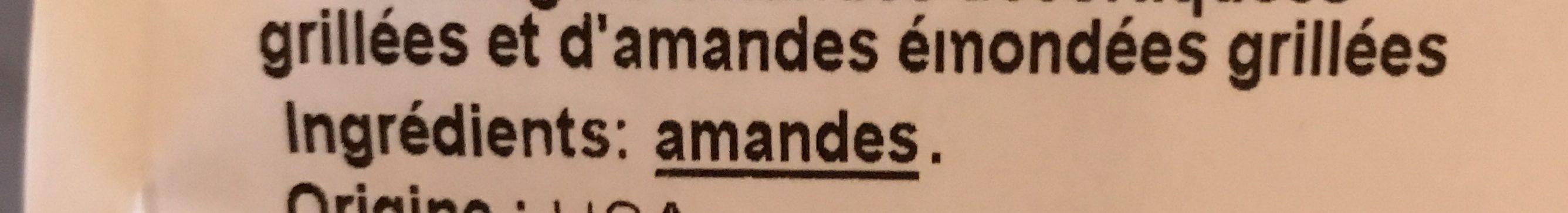 Duo amandes grillées sans sel ajoutés - Ingrédients - fr