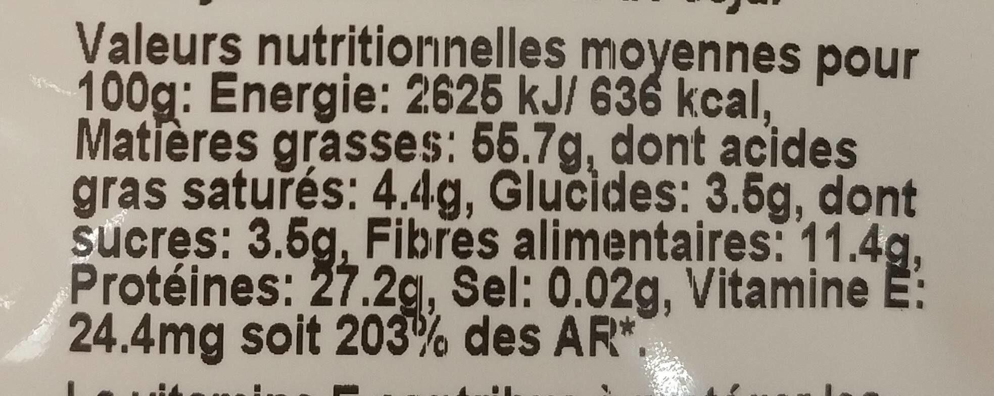 Duo amandes grillées sans sel ajoutés - Informations nutritionnelles - fr