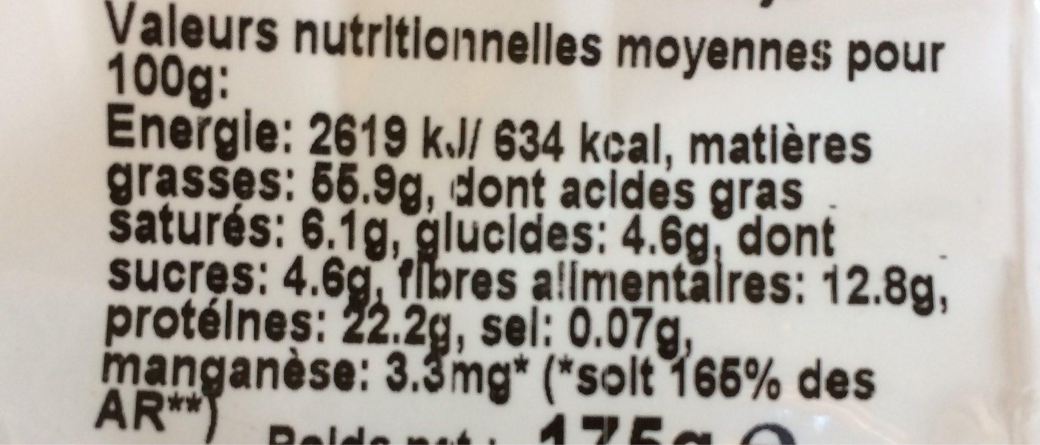 4 graines grillées - Informations nutritionnelles - fr