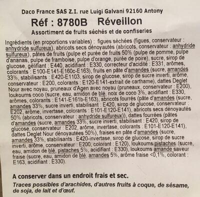 Reveillon - Ingrédients - fr