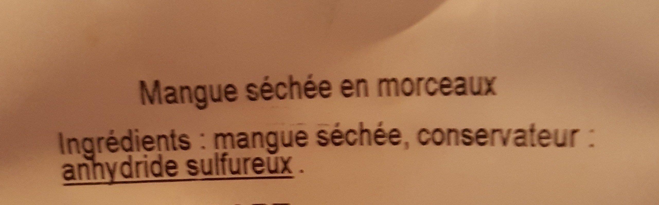 Mangue Sans Sucres Ajoutés - Ingrédients - fr
