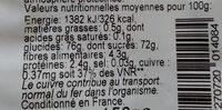Trio de raisins - Voedingswaarden - fr