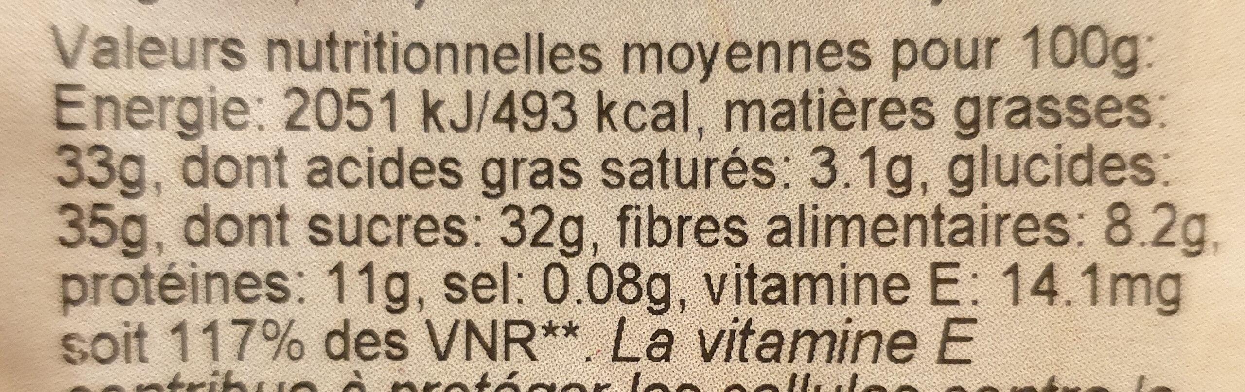 BIO Méli mélo Figue - Valori nutrizionali - fr