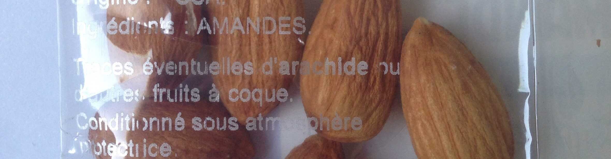 Amandes decortiquees nature - Ingrédients - fr
