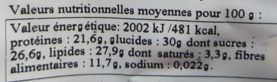 Formule Boost - Informations nutritionnelles - fr