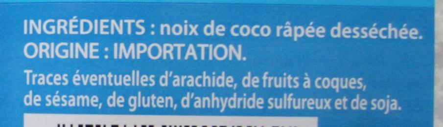 Noix de coco râpée - Ingredients - fr