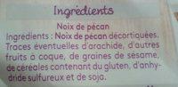 Noix de pecan - Ingrédients