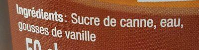 Sirop Canne / Vanille Dormoy - Ingredients