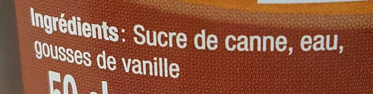 Sirop Canne / Vanille Dormoy - Ingrédients - fr