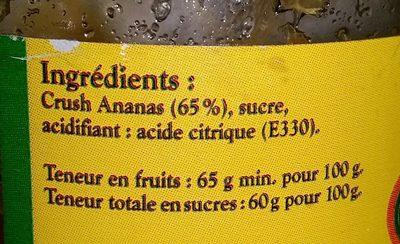 Confiture D'ananas - Ingredients