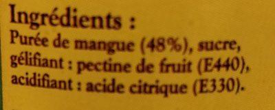 Confiture extra de mangue - Ingredients