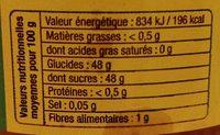 Confiture extra de mangue - Nutrition facts