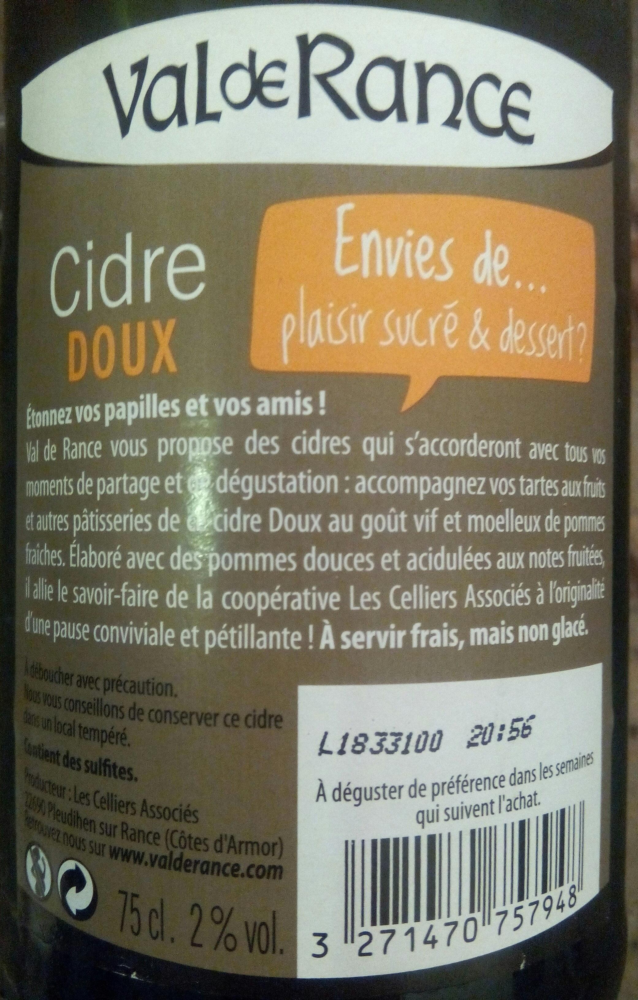 Cidre doux - Ingrédients - fr
