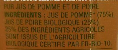 Jus de pomme poire - Ingrédients - fr