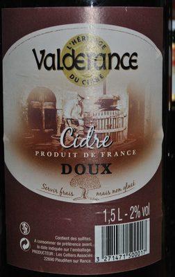 Cidre Doux - Produit