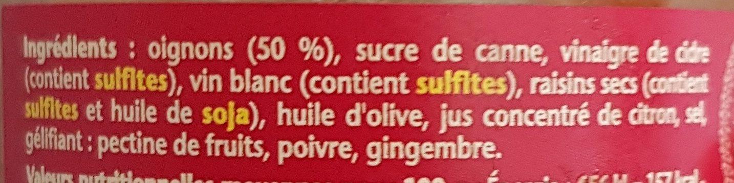Confit d'oignons - Ingrédients - fr