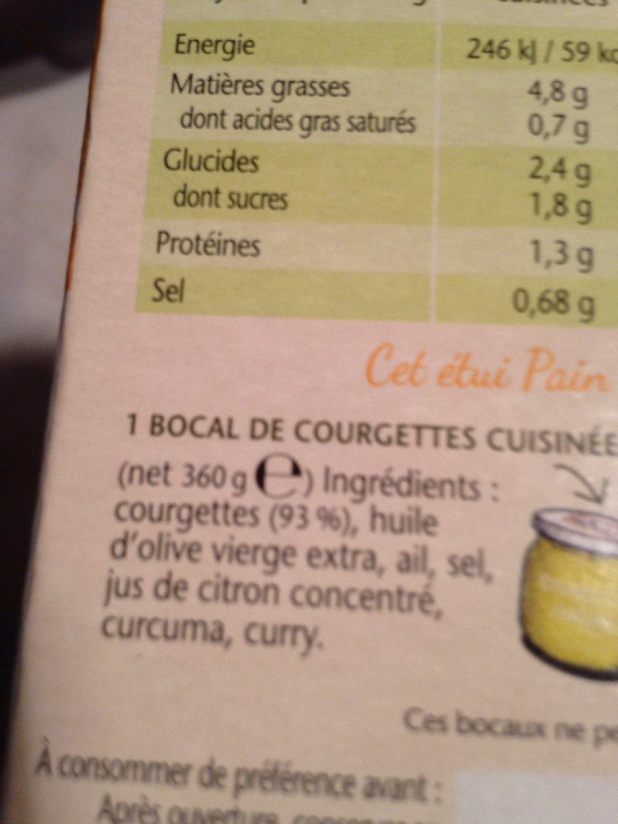 Pain de courgette - Ingrediënten