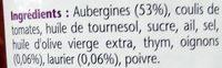 Riste d aubergine - Ingredients