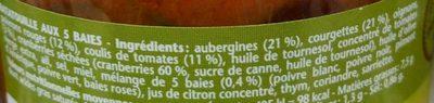Ratatouille Sélection de 5 baies - Ingrédients