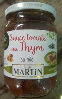 Sauce tomate au thym au miel - Produit - fr