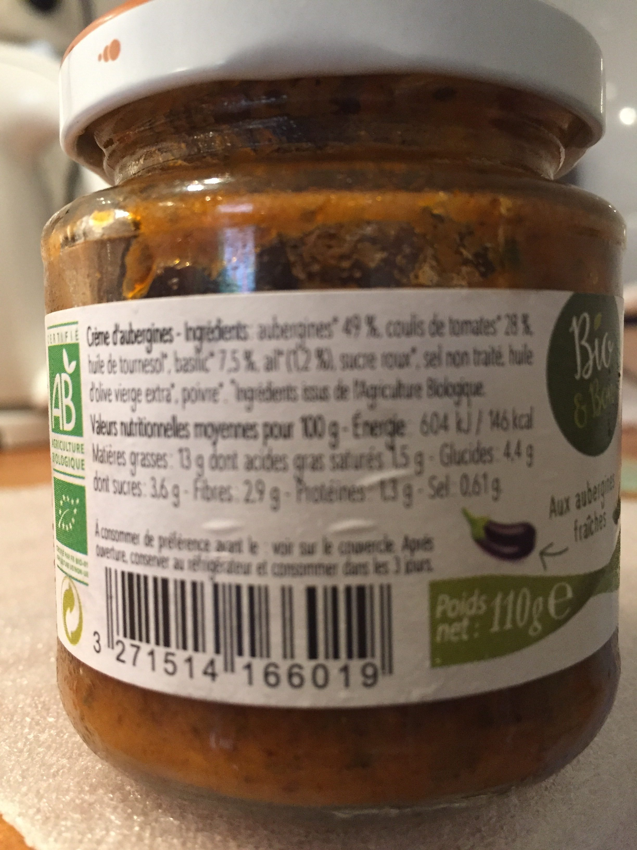 Crème d' aubergines - Ingrédients - fr
