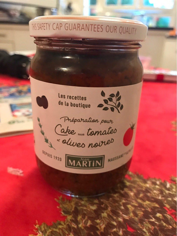 Préparation pour cake aux tomates et olives noires - Product
