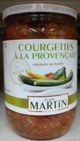 Courgettes à la provençale cuisinées au basilic - Produit