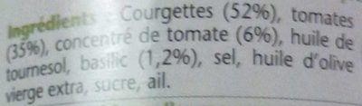 Courgettes à la provençale cuisinées au basilic - Ingrédients