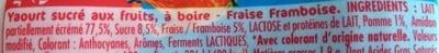 Fruiiits Yaourt à boire fraise framboise - Inhaltsstoffe - fr