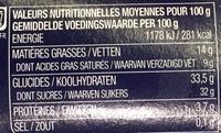 Tiramisu sur lit de mangue & passion - Voedingswaarden - fr