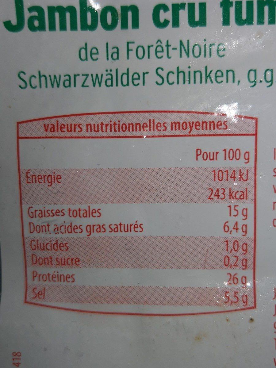 Jambon cru fumé - Ingrediënten