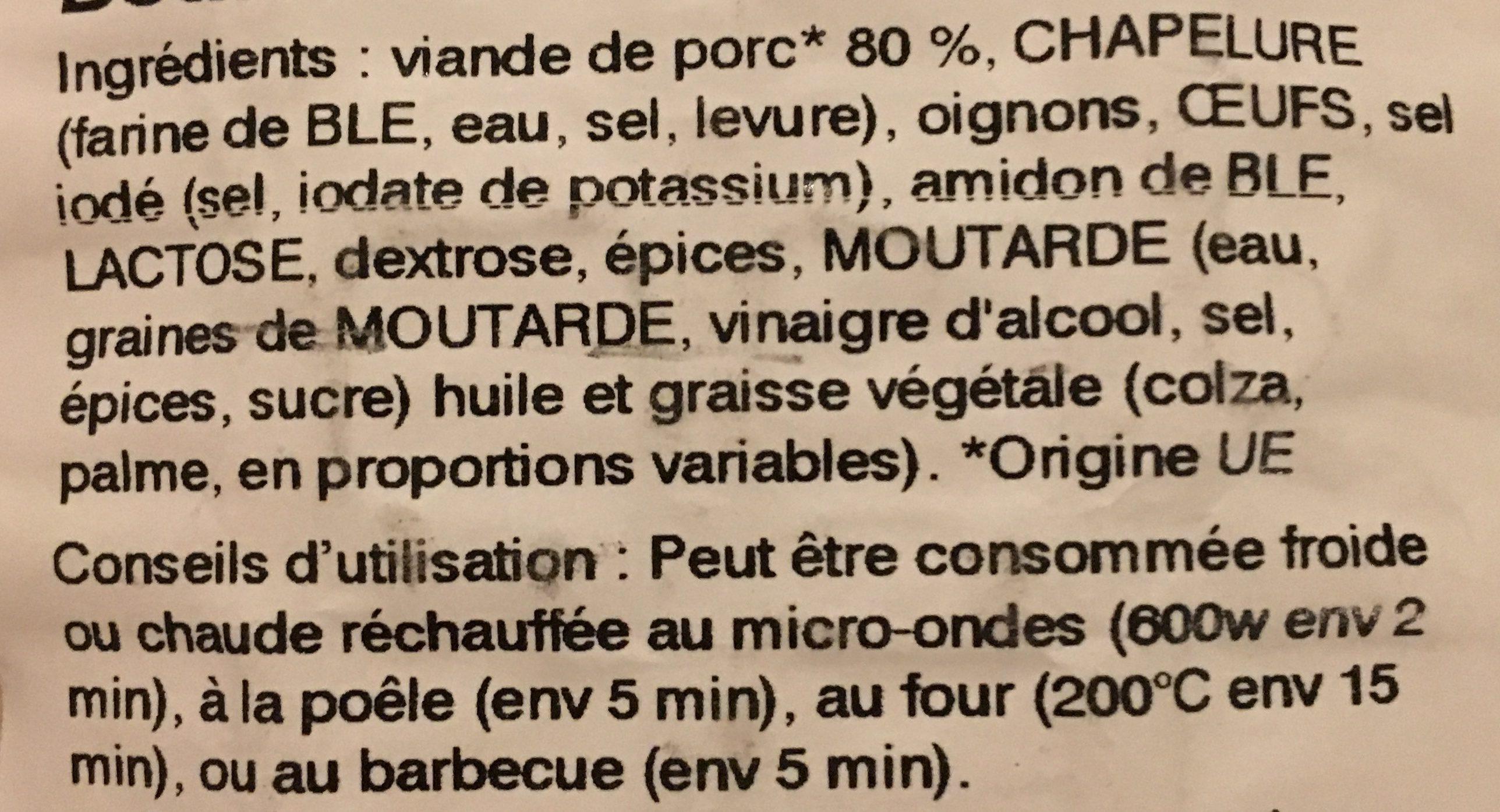Fricadelles - Ingrédients - fr