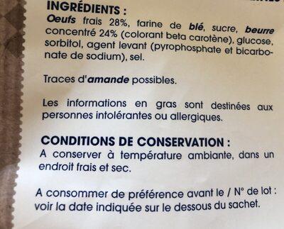 Veritables Madeleines - Ingredients