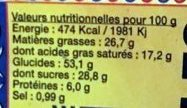Veritables Madeleines - Nutrition facts