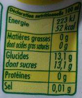 L'ordinaire - Nutrition facts