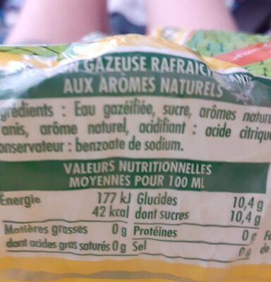 L'ordinaire - Nutrition facts - fr