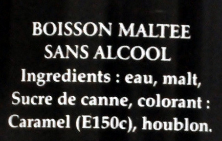 Malta Corsaire - Ingrédients - fr