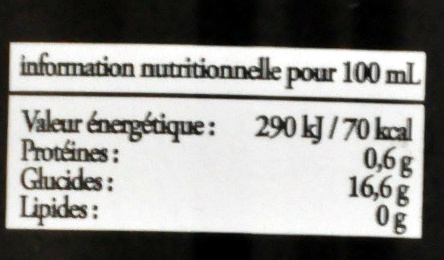 Malta Corsaire - Informations nutritionnelles - fr